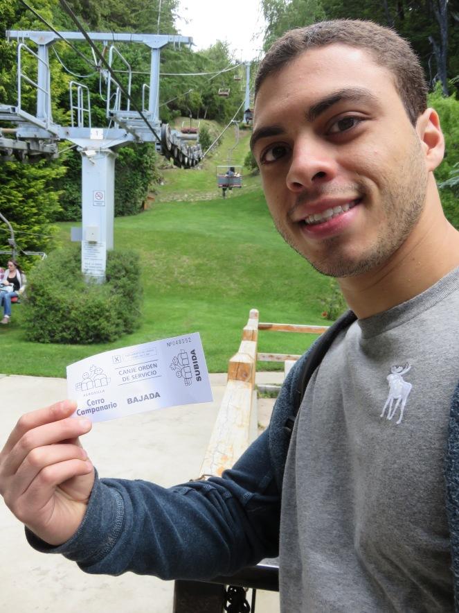 Ticket na mão :D