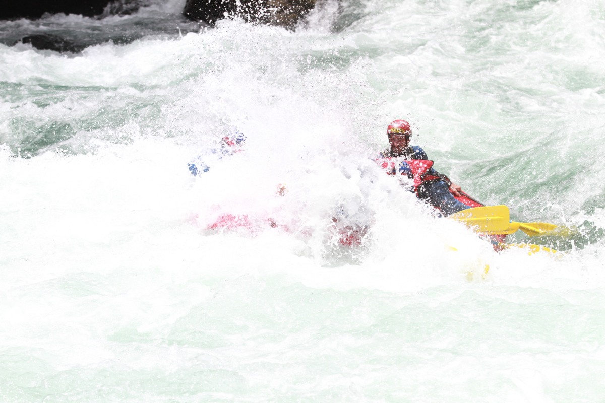 Rafting na Cordilheira dos Andes
