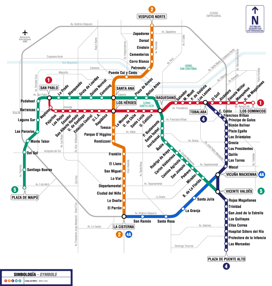 metro de santiago estações